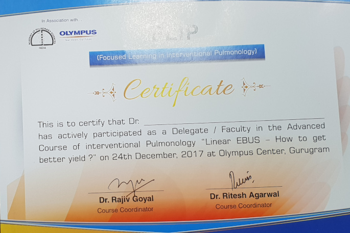 FOCUSED LEARNING IN INTERVENTIONAL PULMONOLOGY KALYAN CHEST CENTRE VADODARA GUJARAT