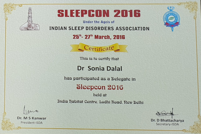 INDIAN SLEEP DISORDERS ASSOCIATION KALYAN CHEST CENTRE VADODARA GUJARAT