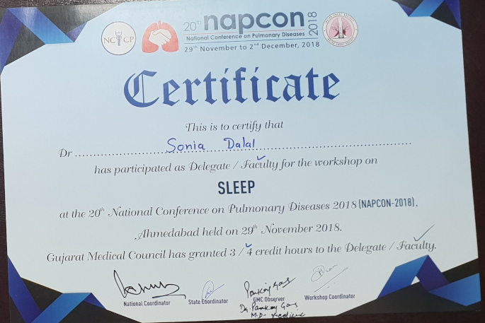 SLEEP NATIONAL CONFERENCE ON PULMONARY DISEASES 2018